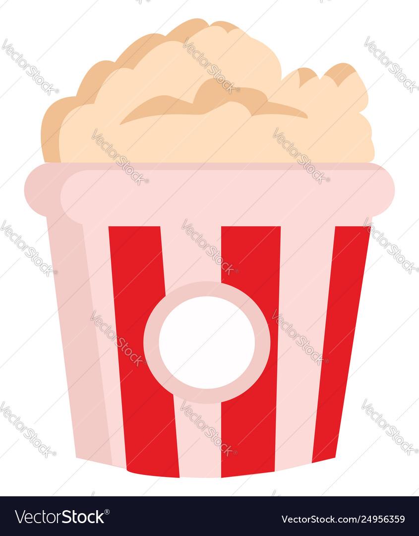 Popcorn bag. Clipart yummy in a