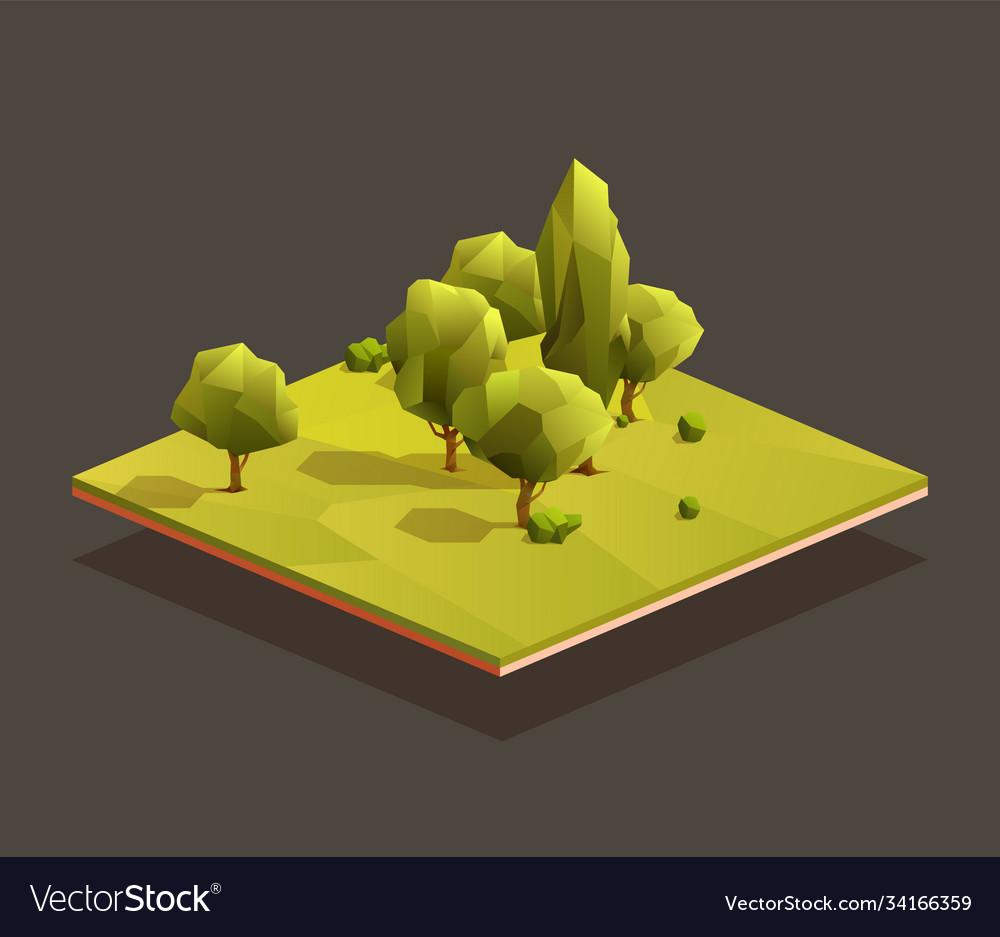 Isometric small woods area
