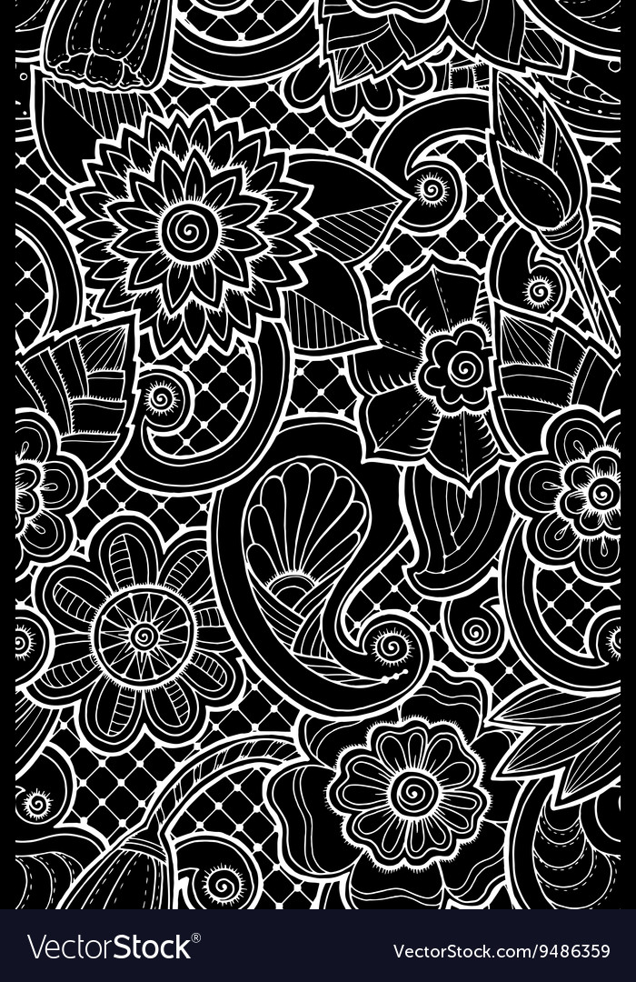 Seamless pattern with flowers and butterfly