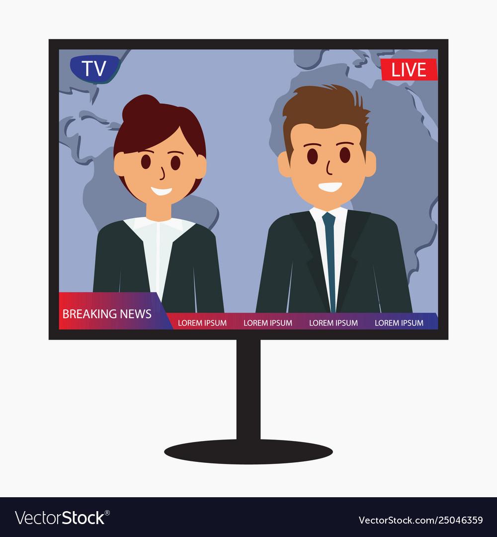 Television breaking news design icon