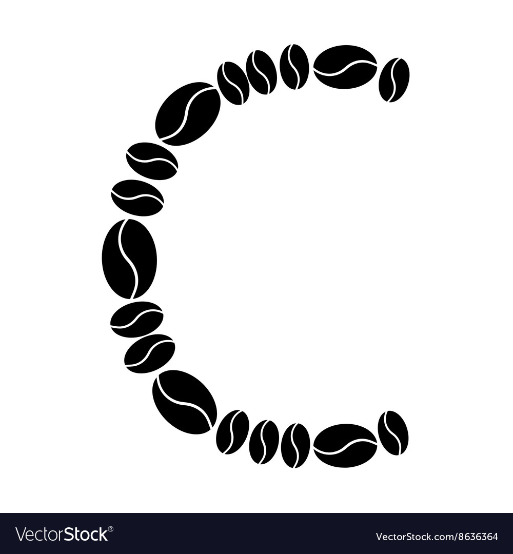 alphabet set from coffee beans royalty free vector image vectorstock