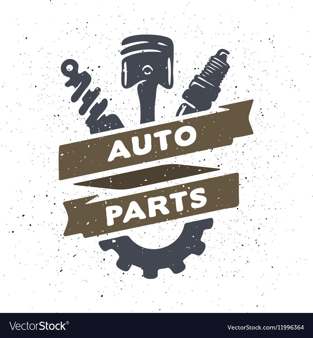 Auto parts hand drawn