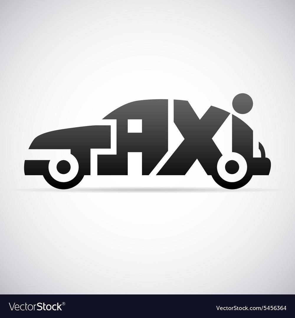 Automobile taxi logo design template