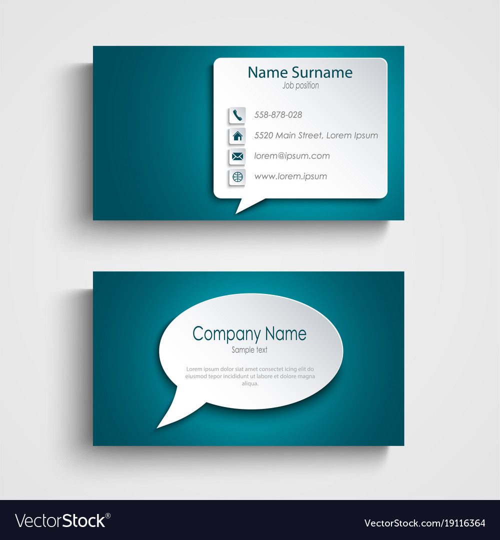10 avery 5630 template gallery gemutlich avery vorlagen business business card with design speak bubble template vector image reheart Choice Image