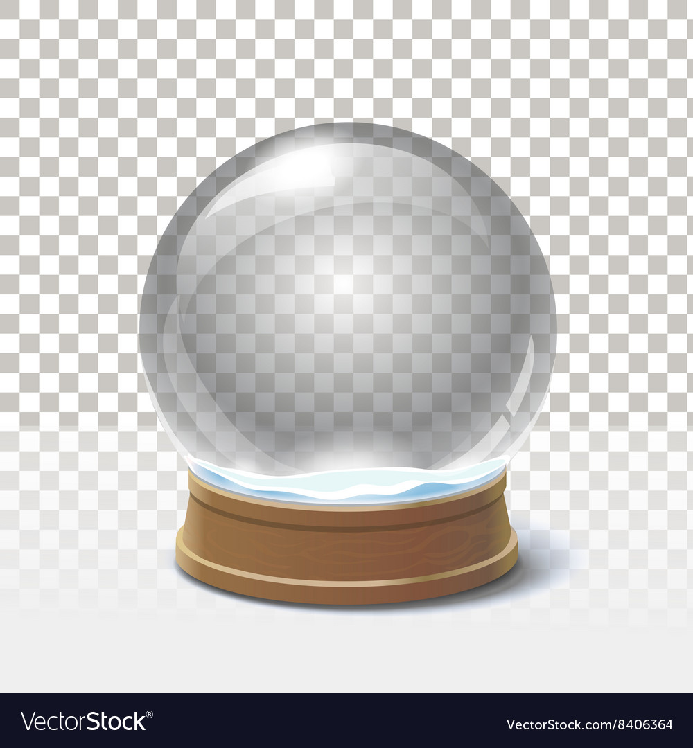 Christmas snow globe on checkered background vector image