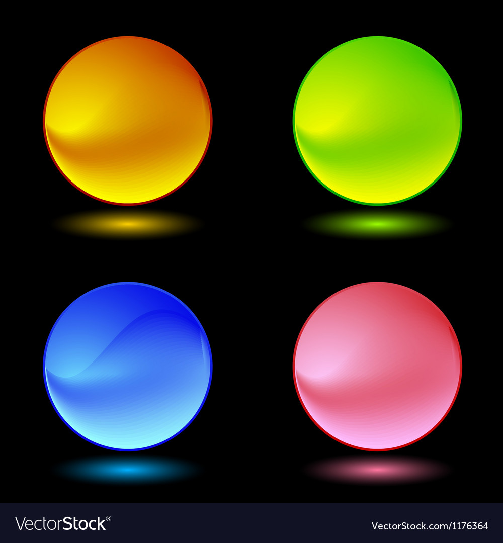 Color ring buttons vector image