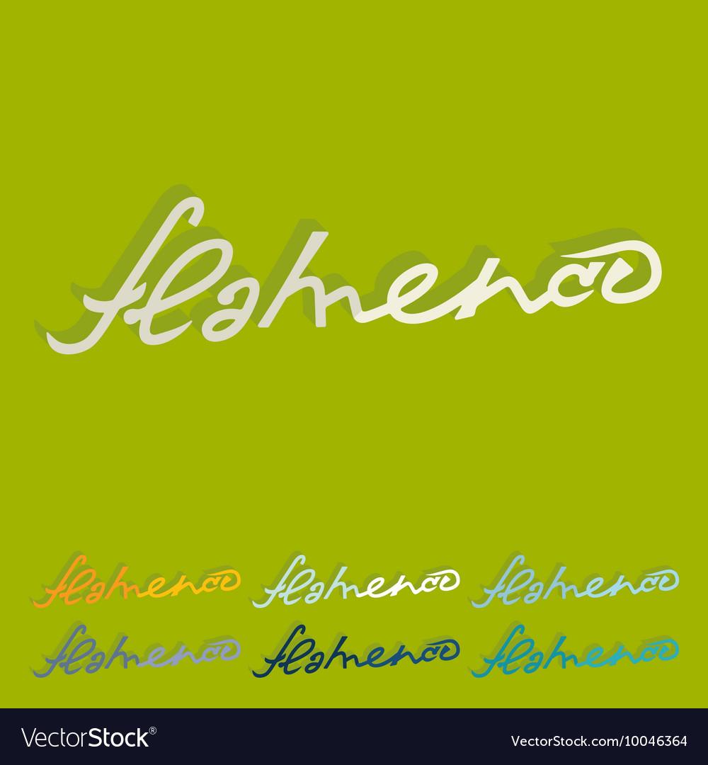 Flat design flamenco
