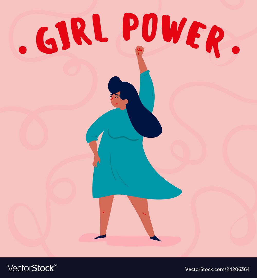 Empowered Woman Cartoon