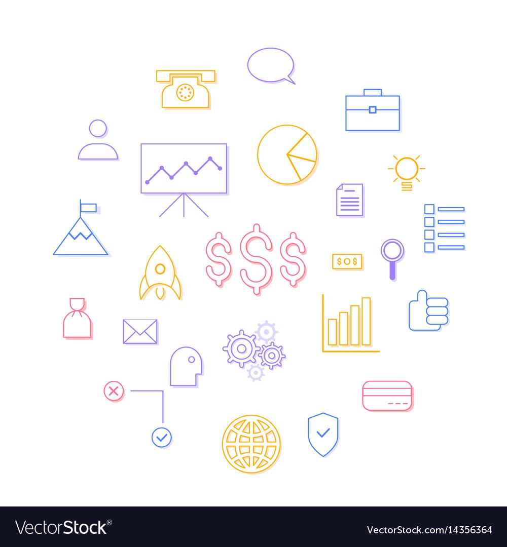 Growth chart analytics stock growth company vector image