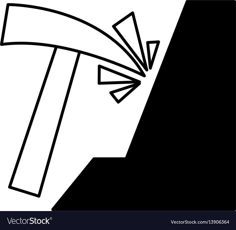 Pick mine isolated icon vector image