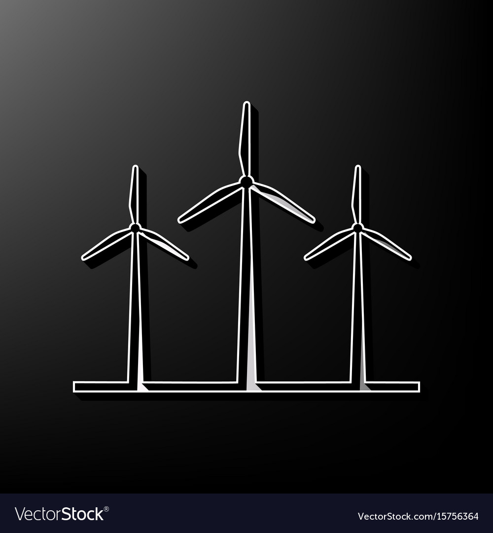 image regarding 3d Printable Wind Turbine named Wind generators signal grey 3d published icon
