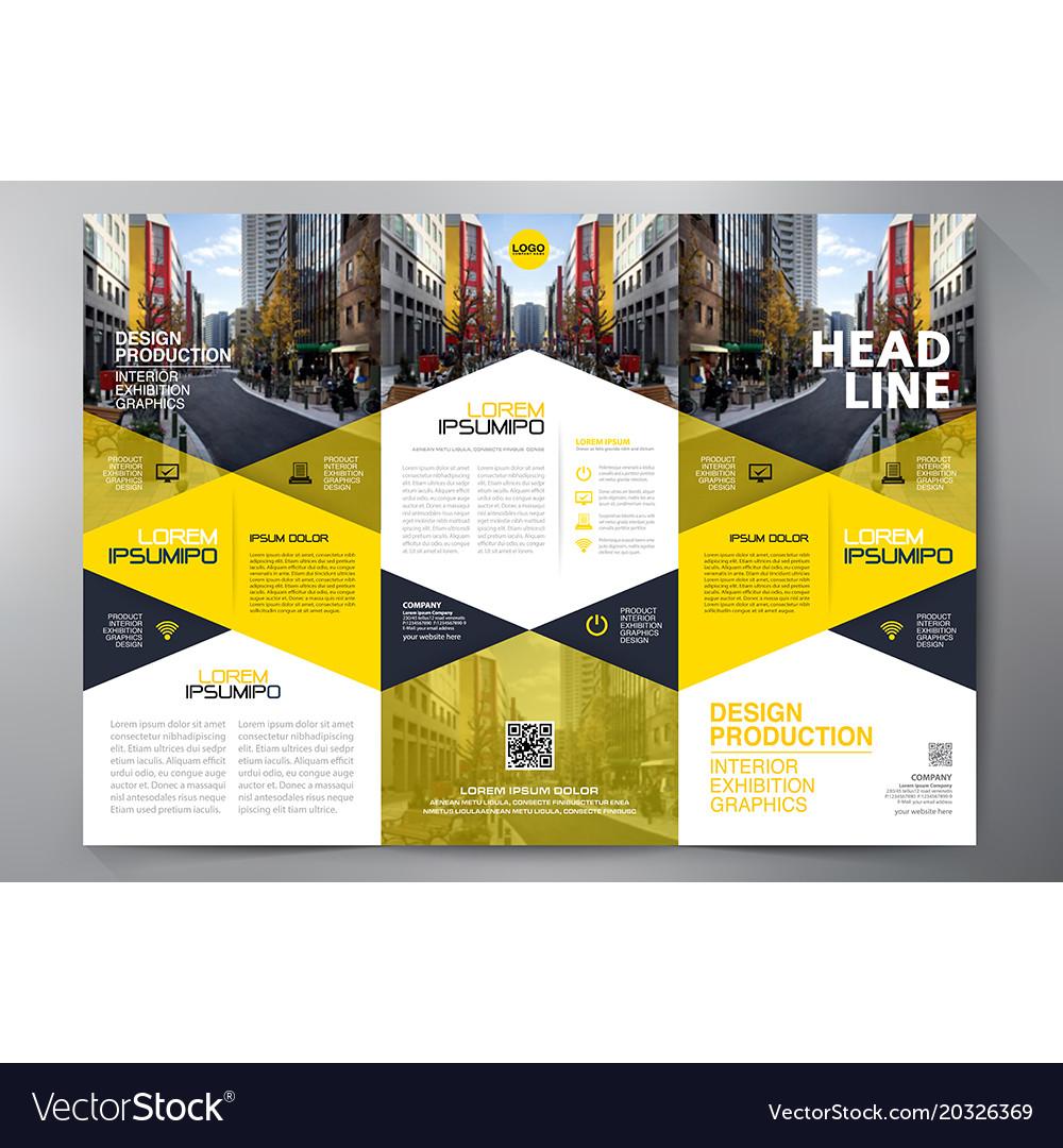 Brochure 3 fold flyer design a4 template vector image
