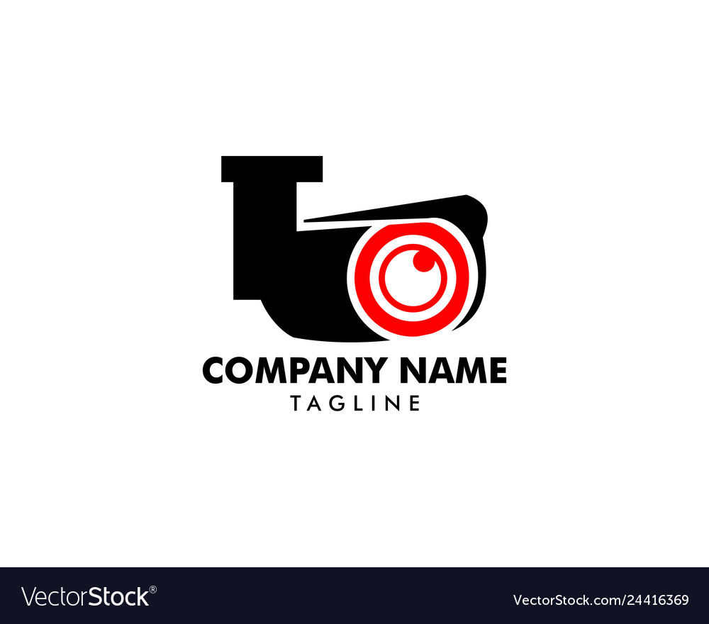 Cctv security logo template design