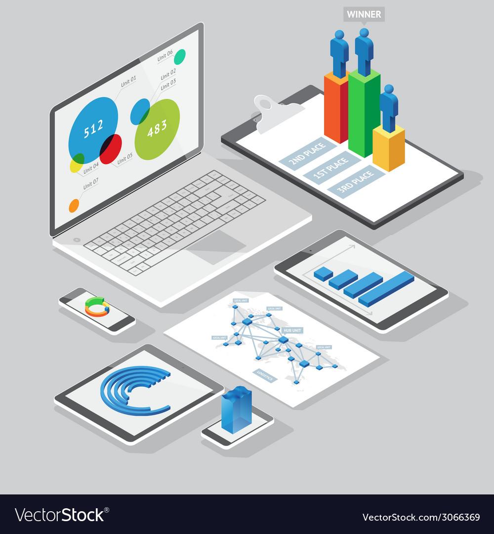Computer infographics design elements