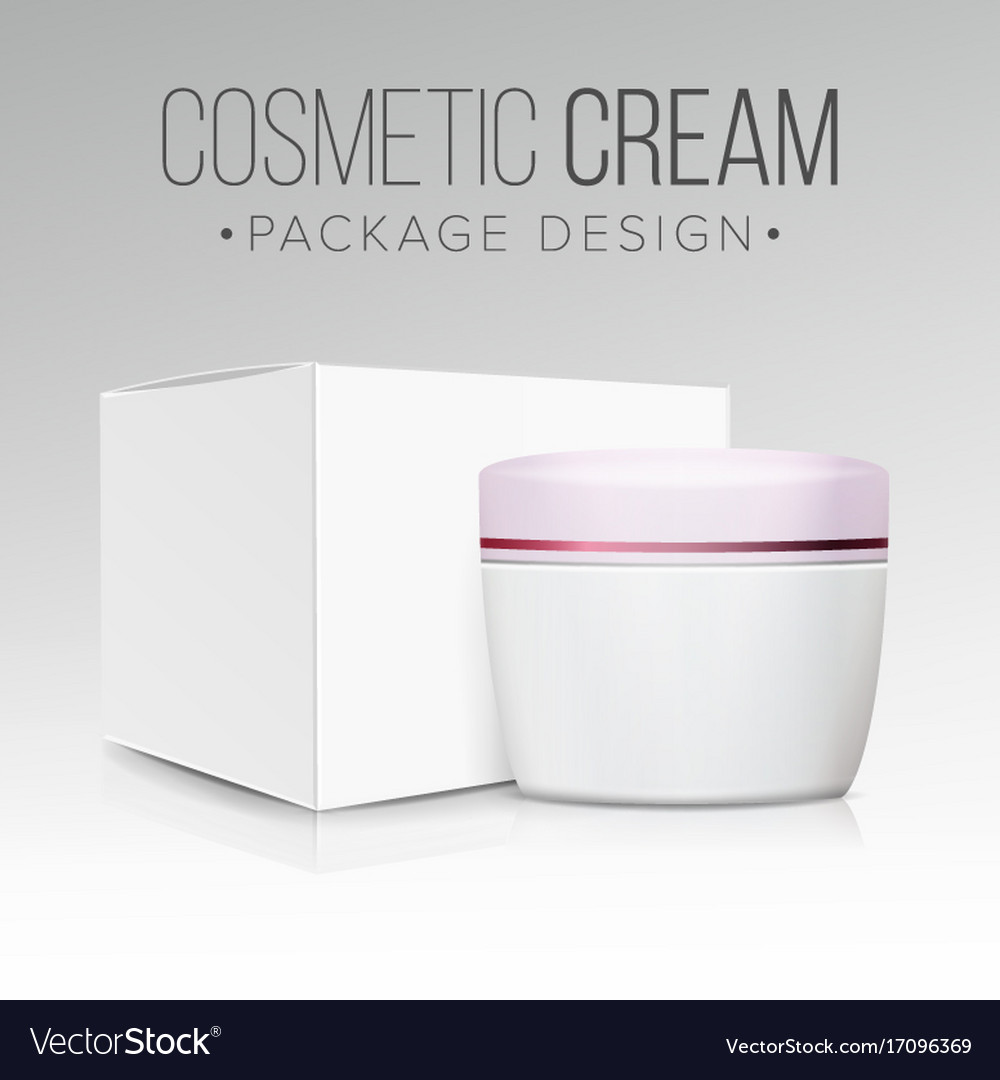 Cream jar packaging empty paper box