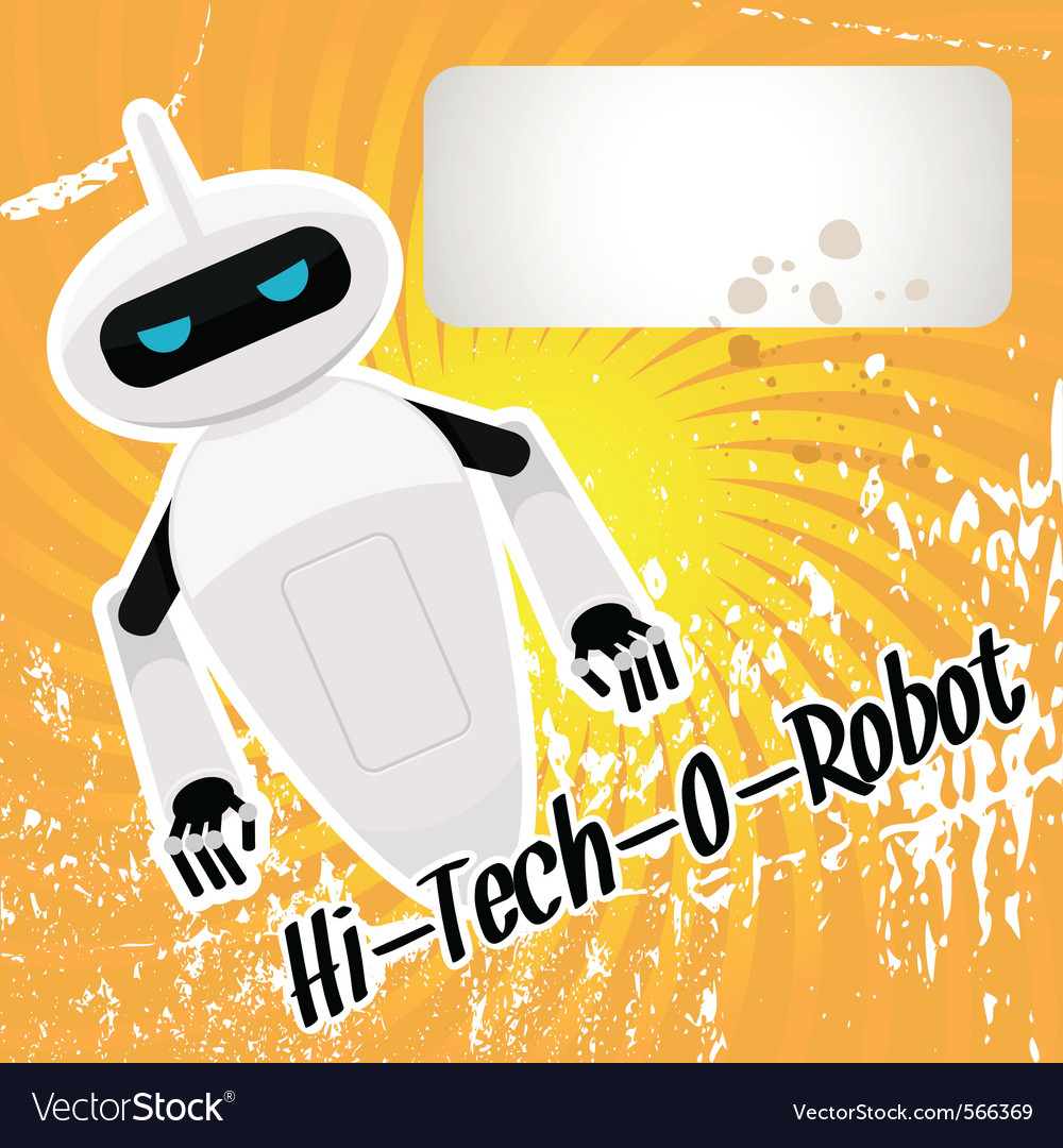 Hitech robot vector image