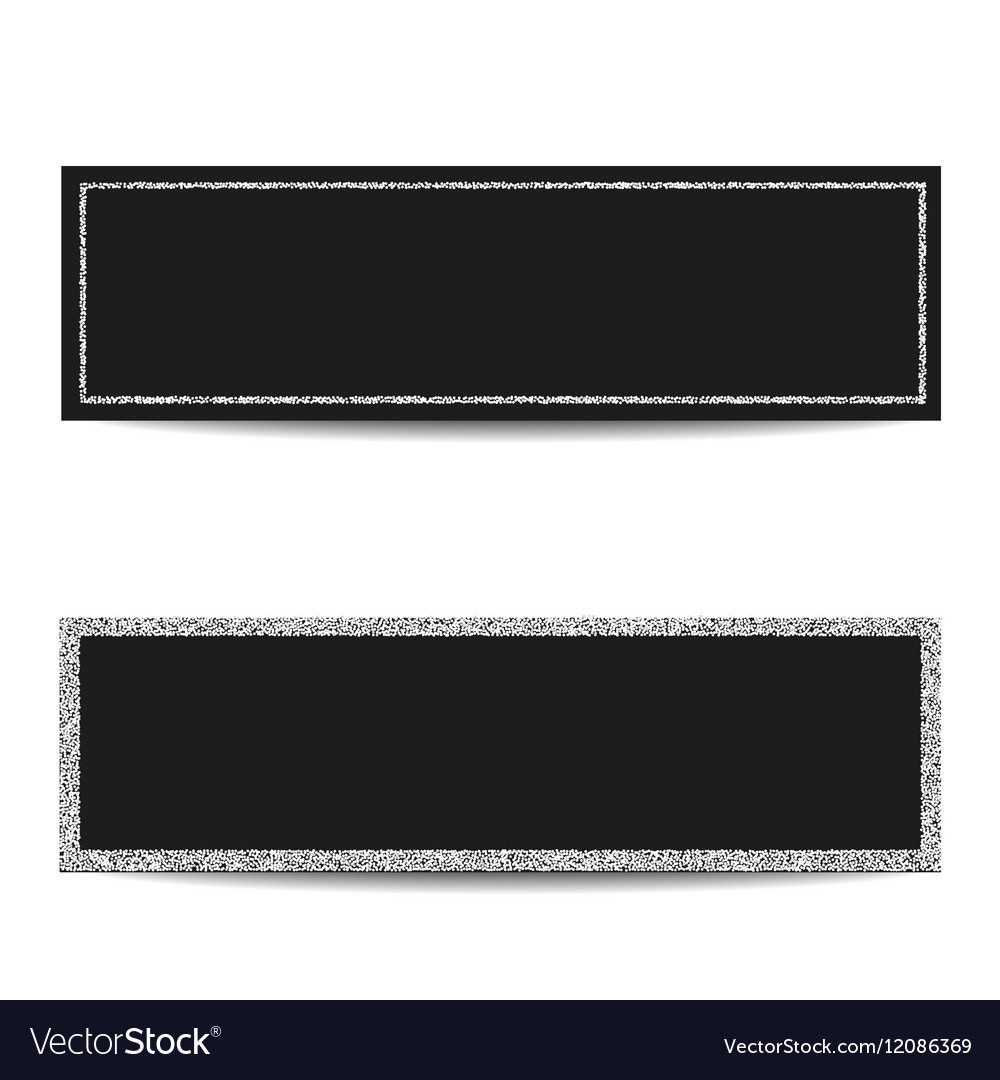 Horizontal banner templates with silver frames Vector Image