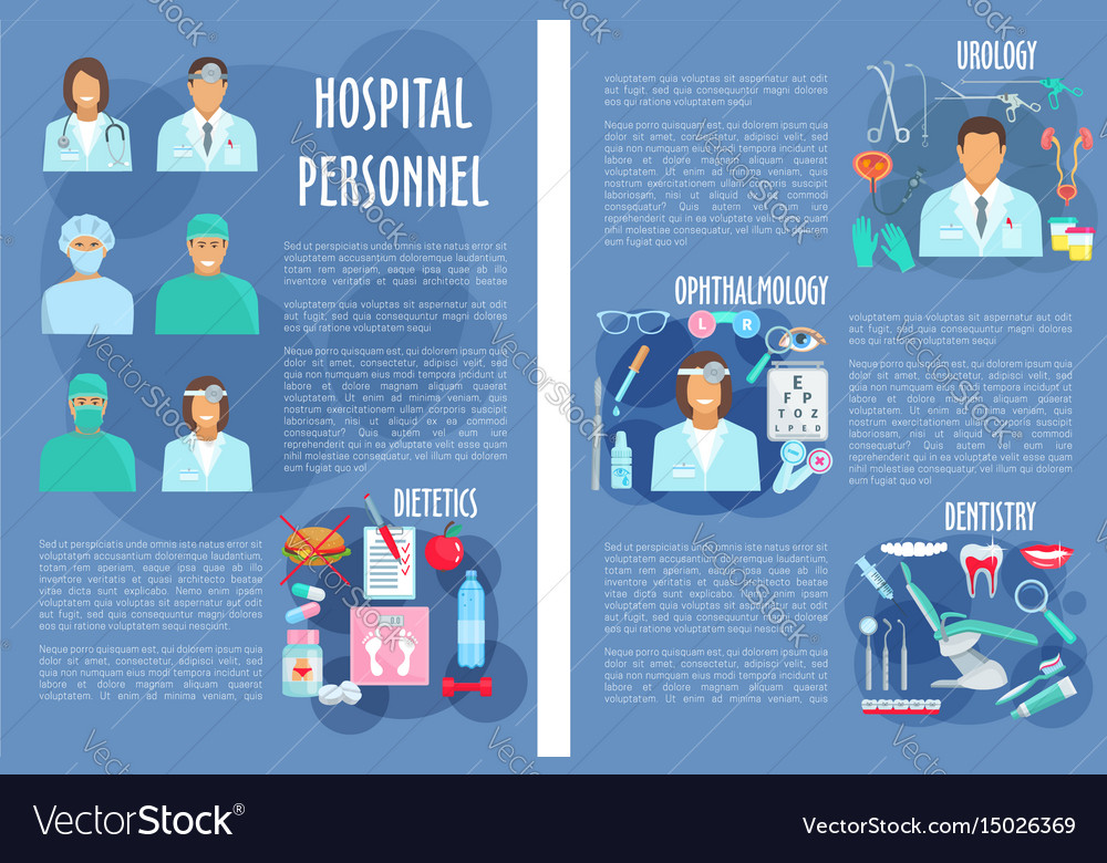 Poster of medical hospital personnel
