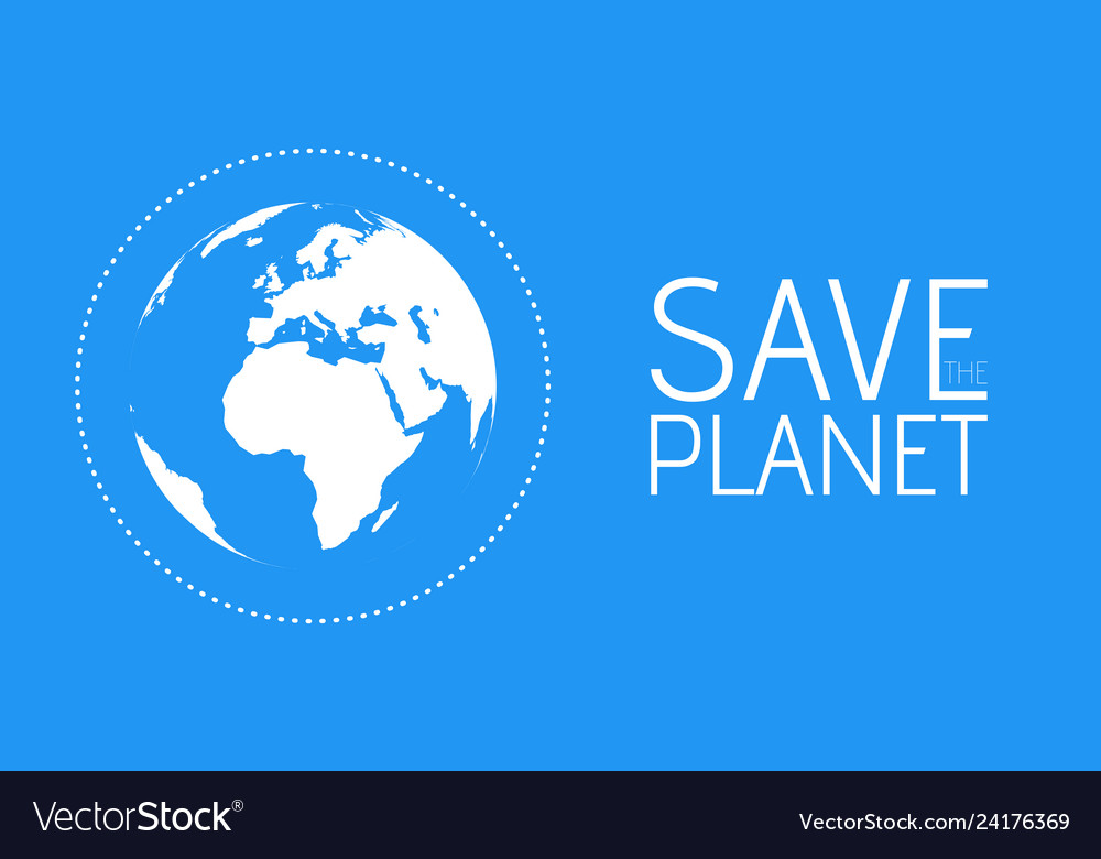 Save the world symbol