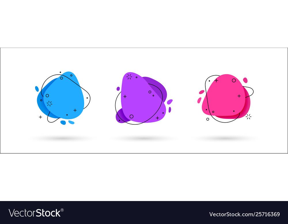 Set liquid color abstract geometric shapes