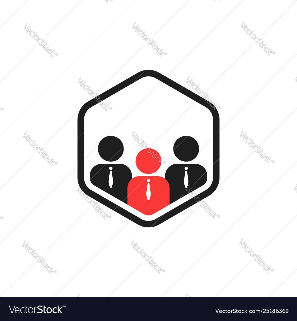 Team work connect like together logo