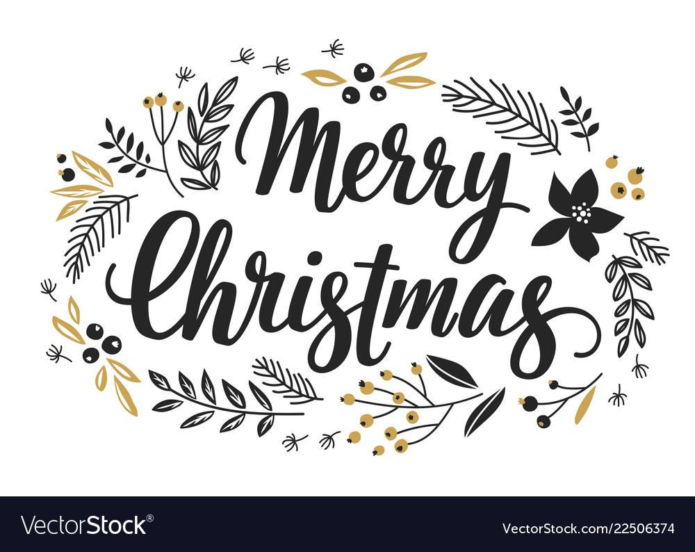 Christmas callygraphic wreath
