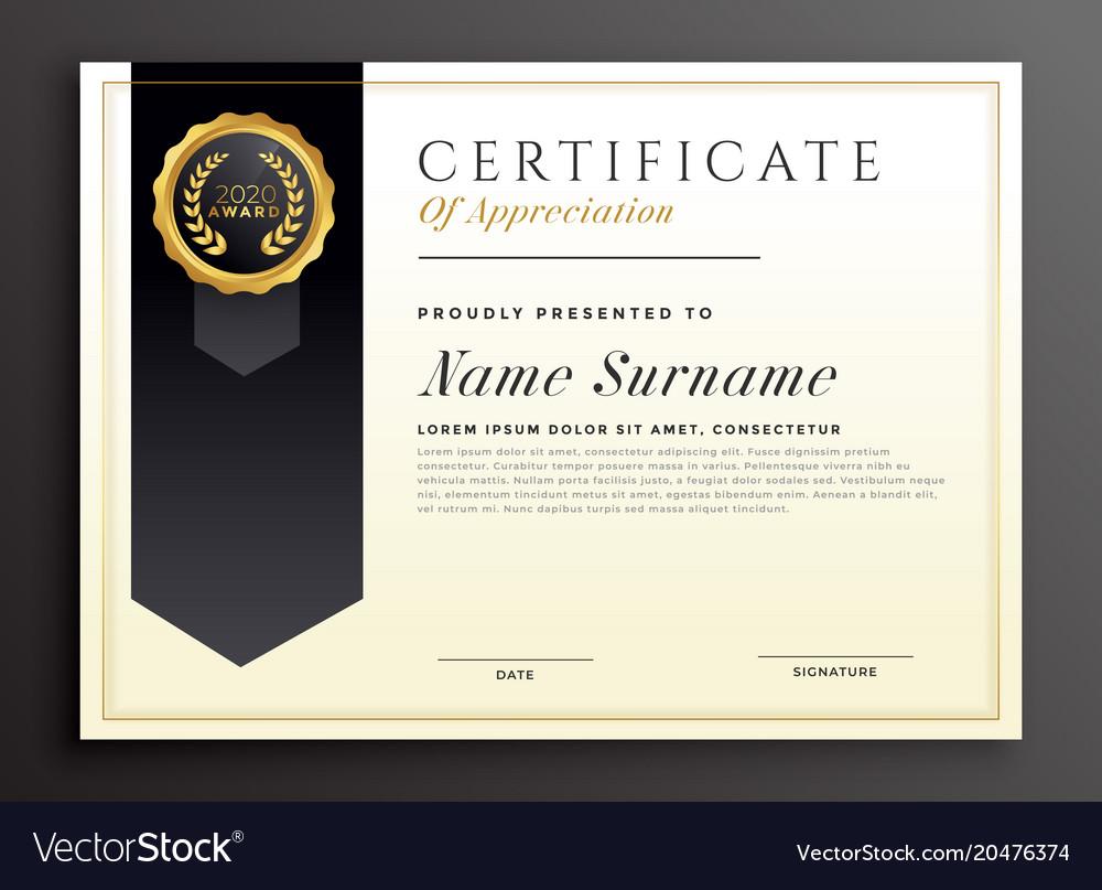elegant diploma award certificate template design vector image