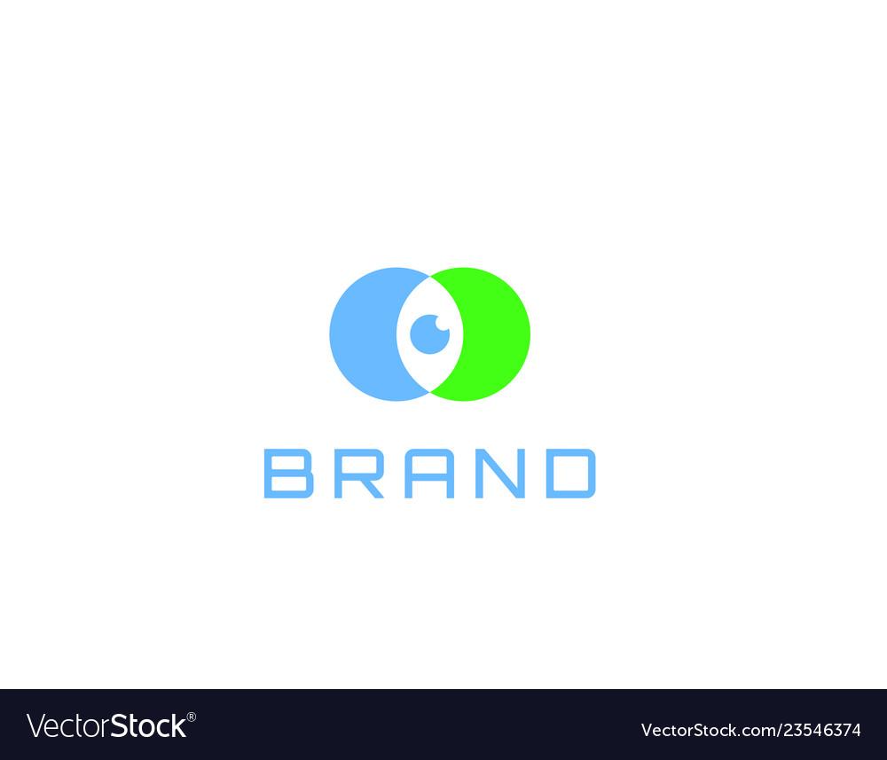 Eye Software Watch Logo Design Royalty Free Vector Image