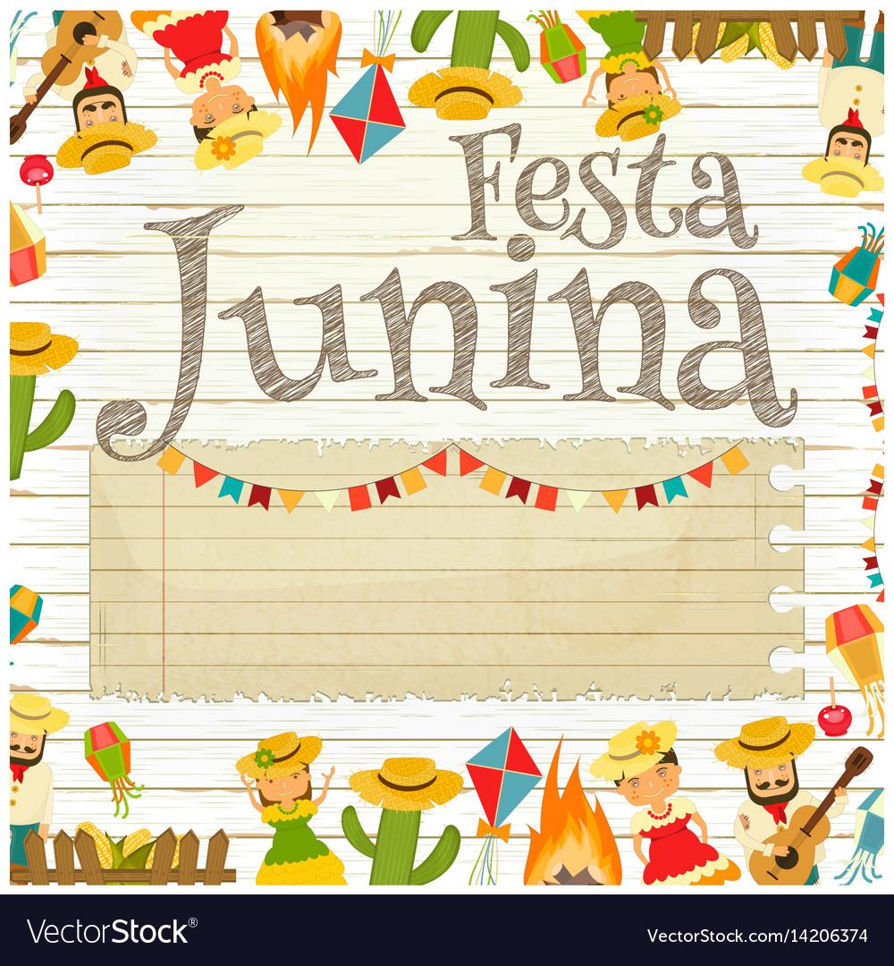 Festa junina - brazil festival vector image