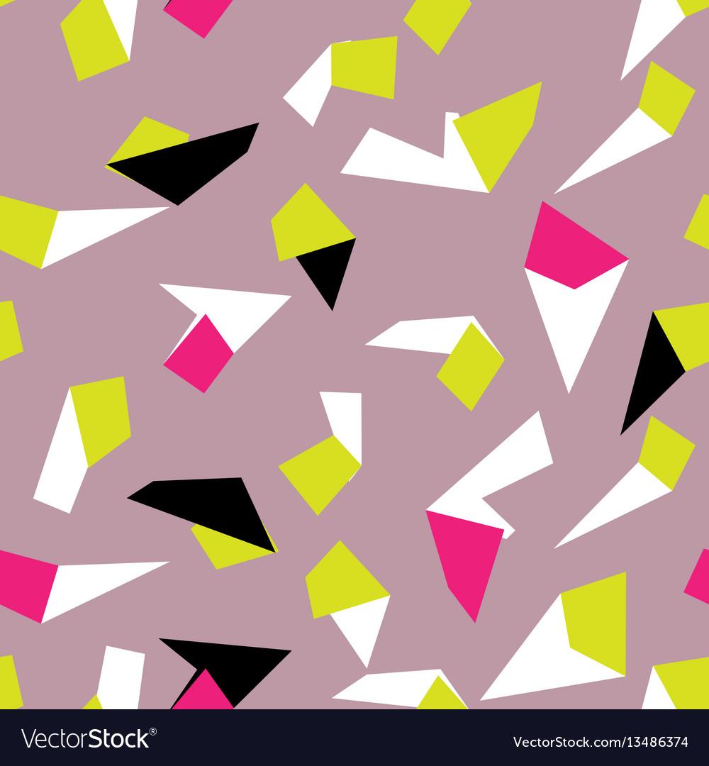 Geometric memphis style modern seamless pattern
