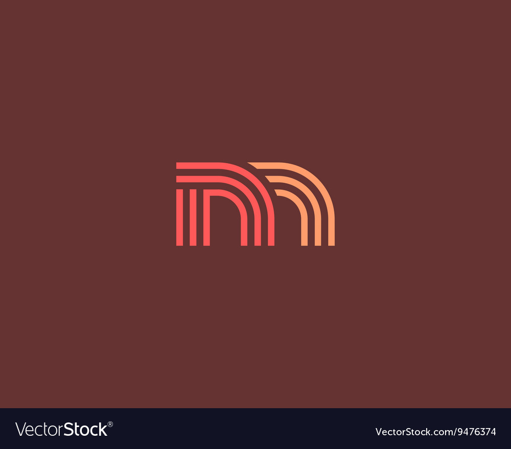 Line letter m logotype Abstract moving airy logo vector image
