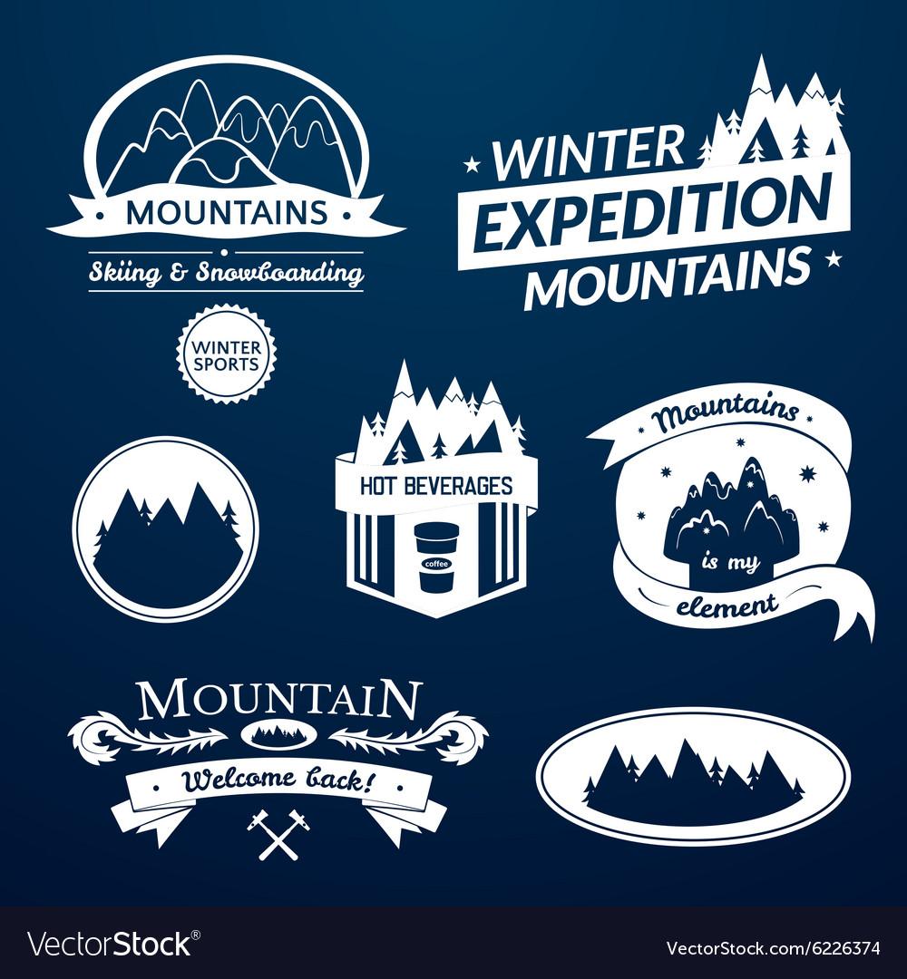 Mountain logo and label set