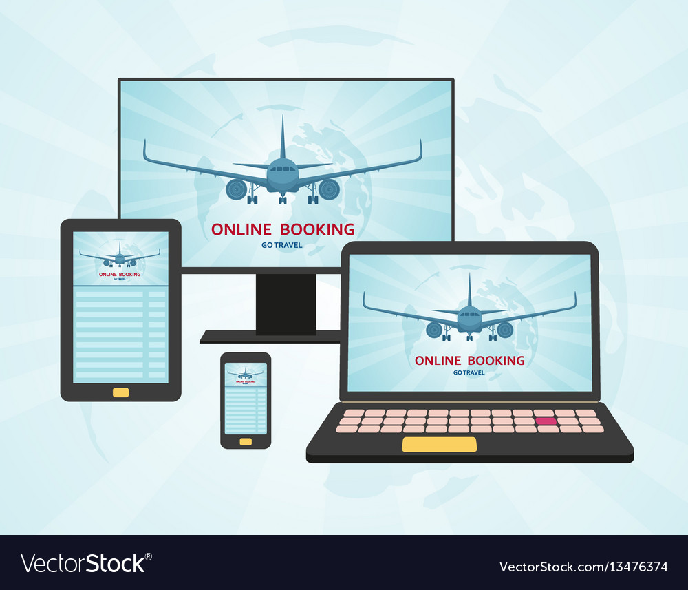 Online booking template for gadgets