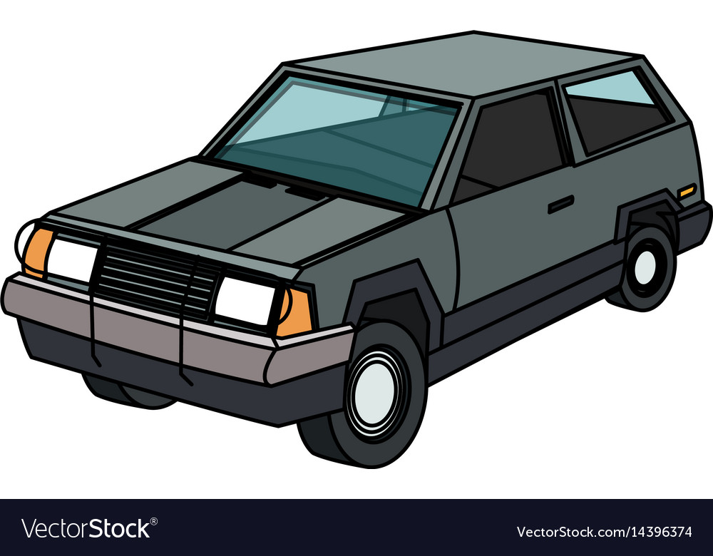 Vintage 90s style car icon image Royalty Free Vector Image