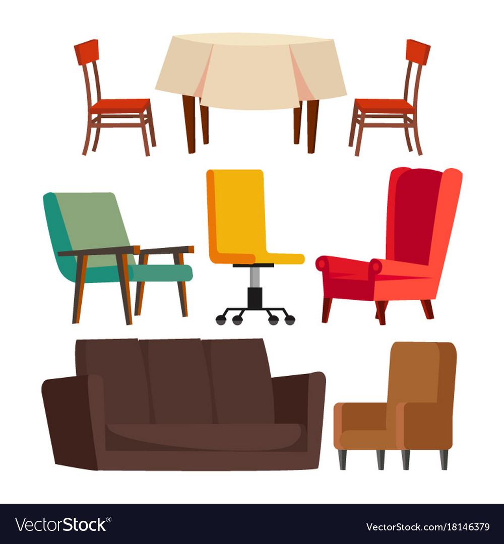 Cartoon Furniture Set Sofa Chair Table