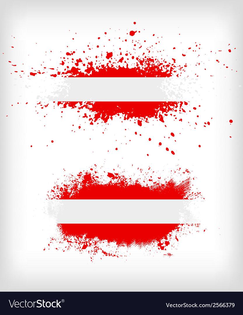 Grunge austrian ink splattered flag