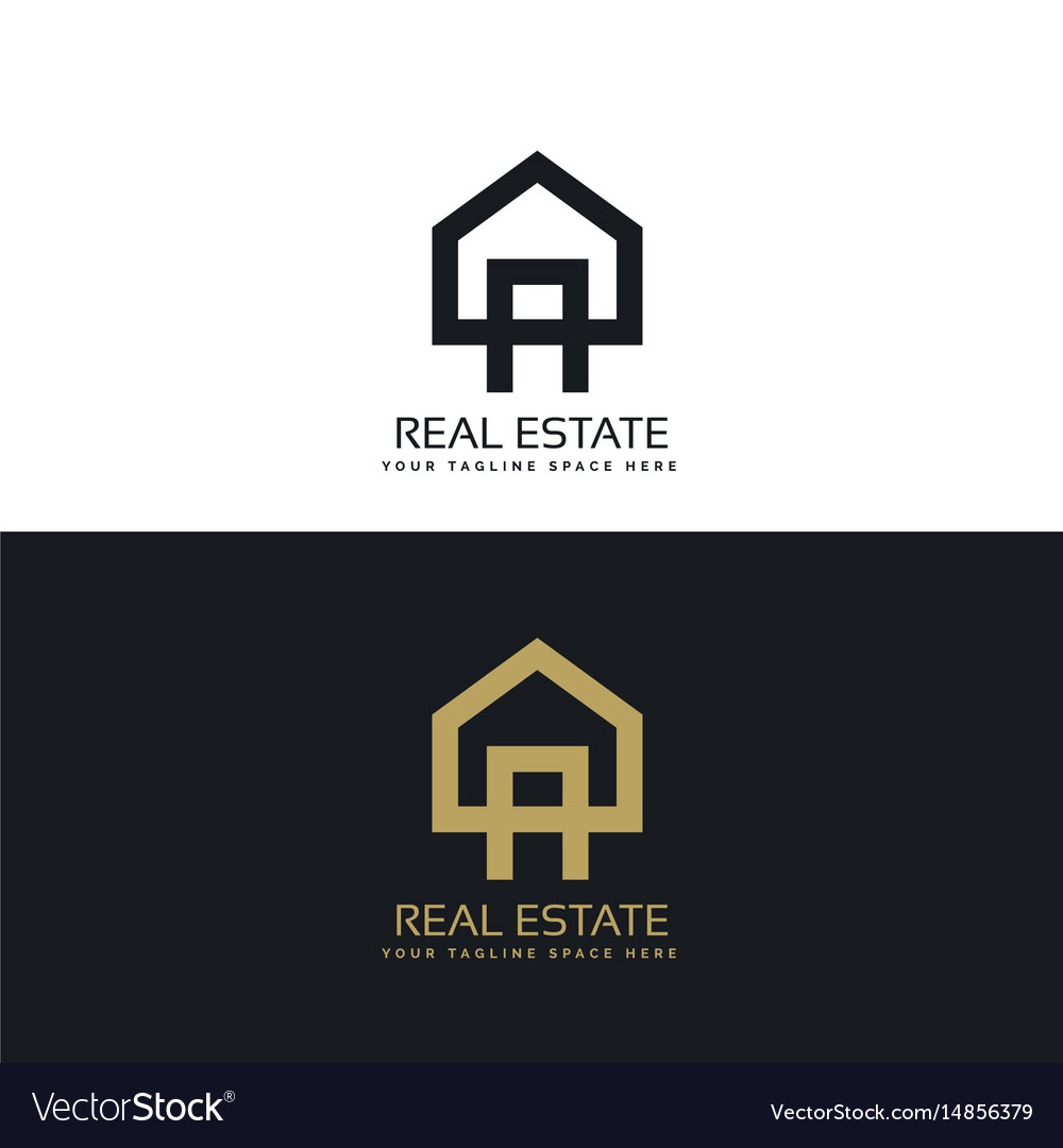 House Logo Design In Clean Minimal Style Vector Image