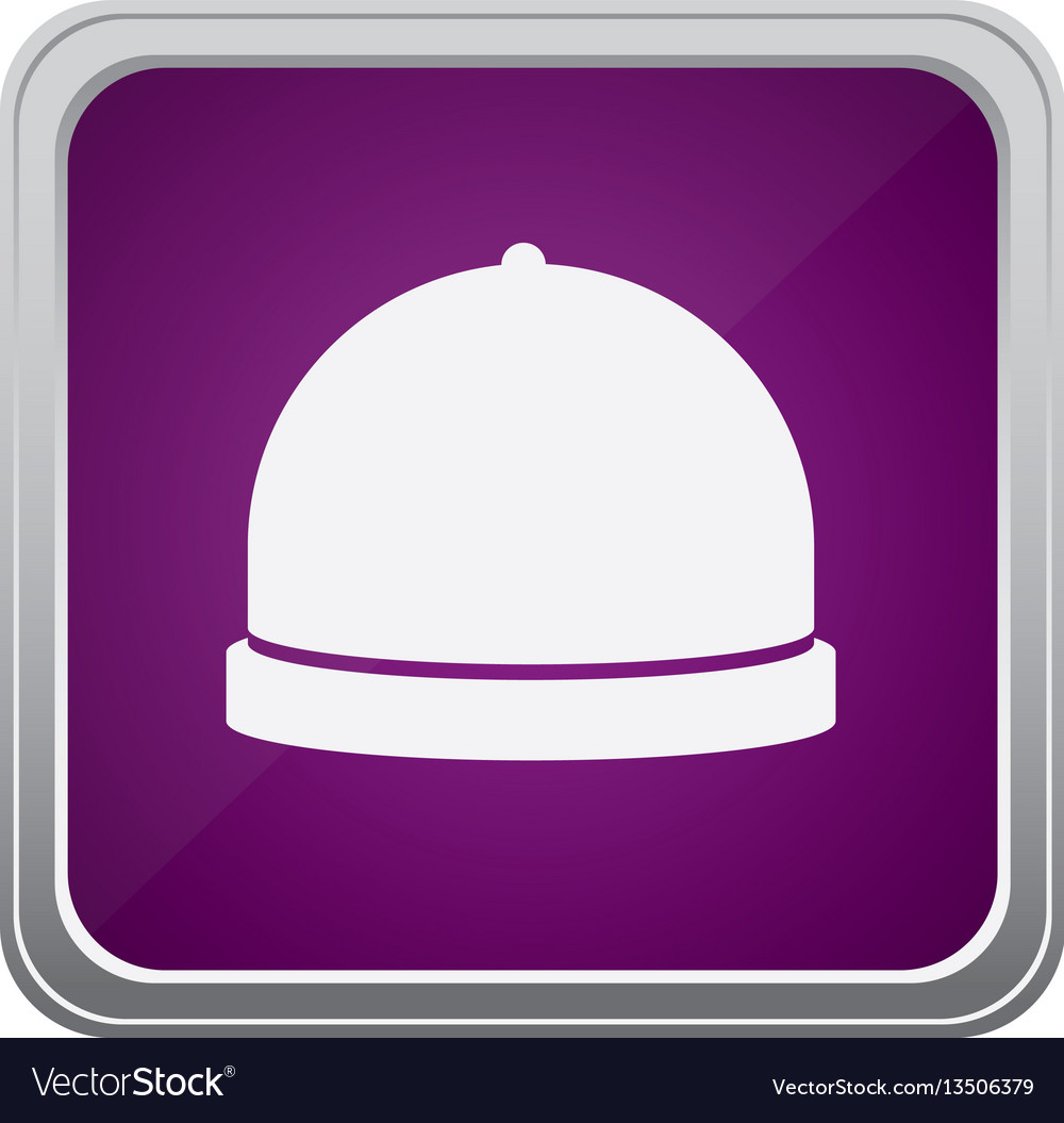 Purple emblem catering icon