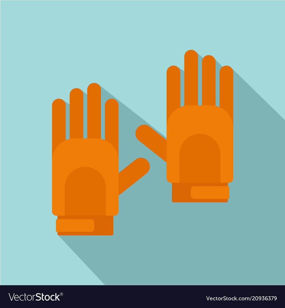 Sport gloves icon flat style