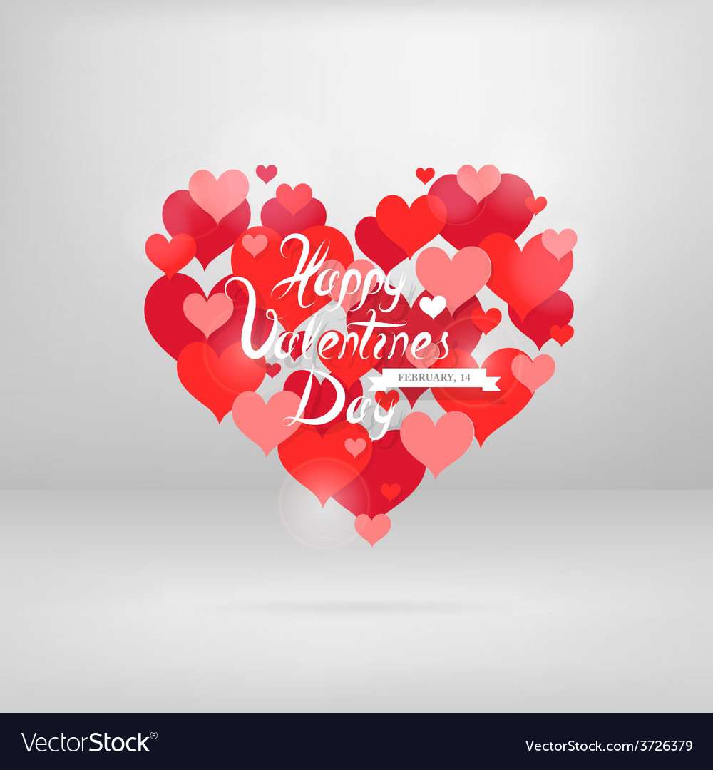 St Valentines Greeting Card With Wishes Royalty Free Vector
