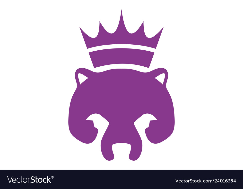 Abstract king bear logo icon