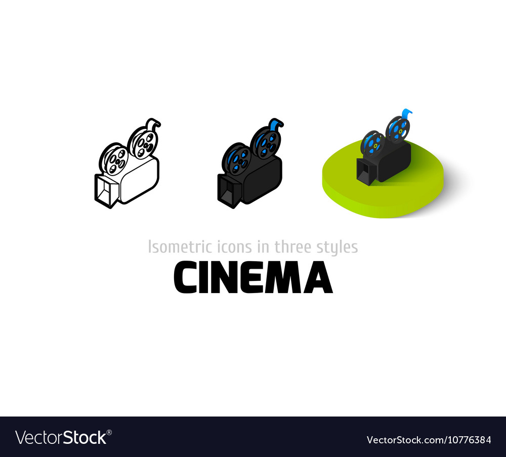Cinema icon in different style
