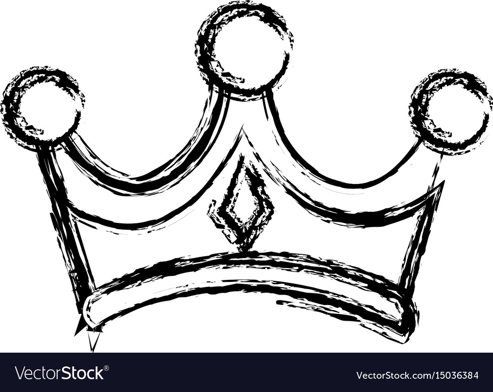 Crown wise king ornate jewelry image vector image