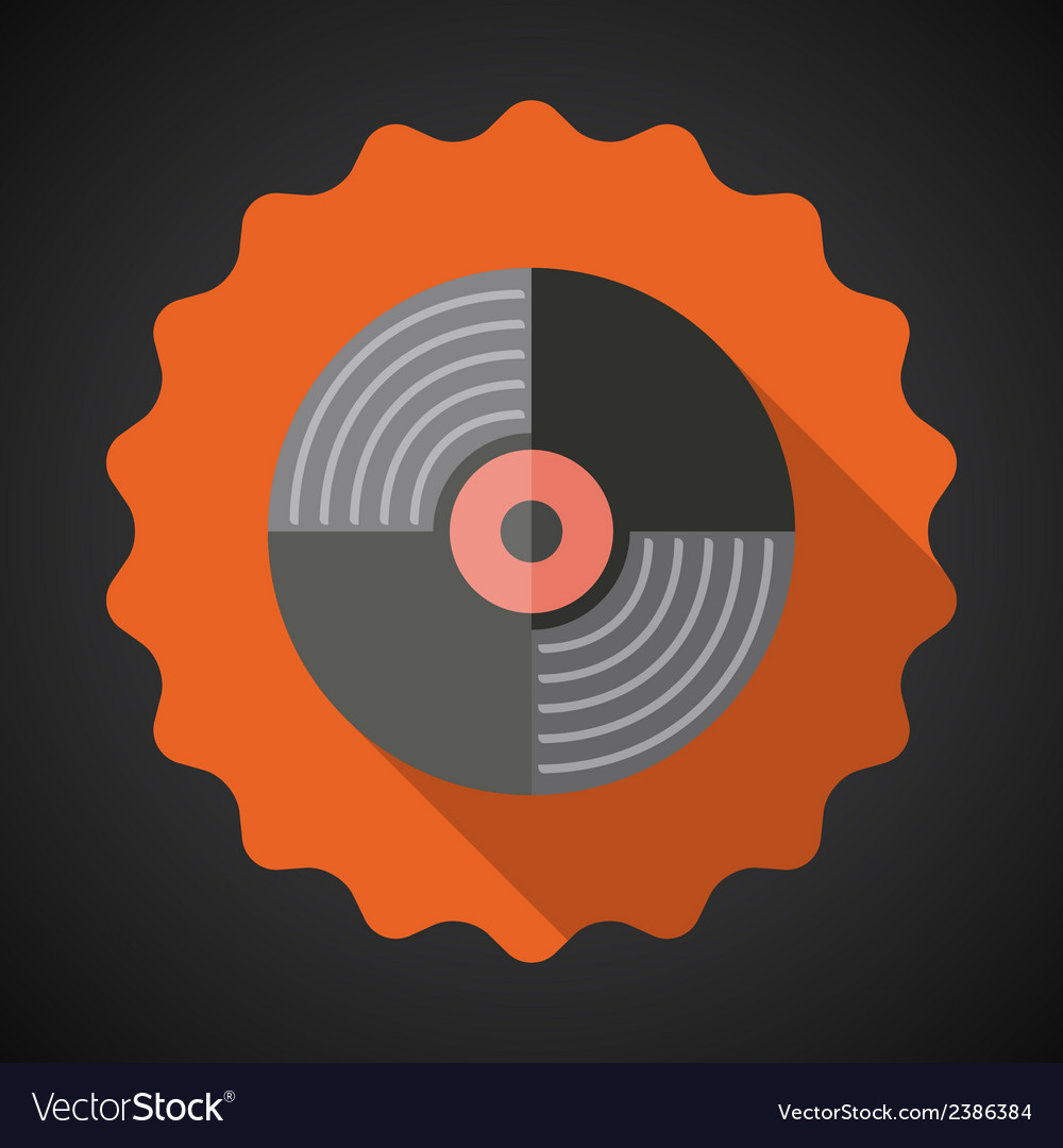 Music Vinyl Record Flat Icon