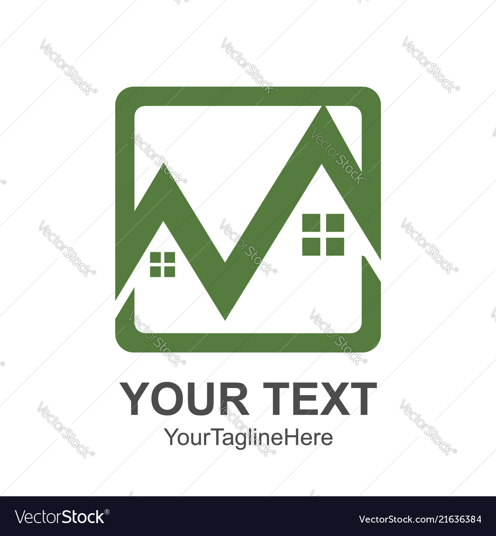 Real estate logo designs for business visual