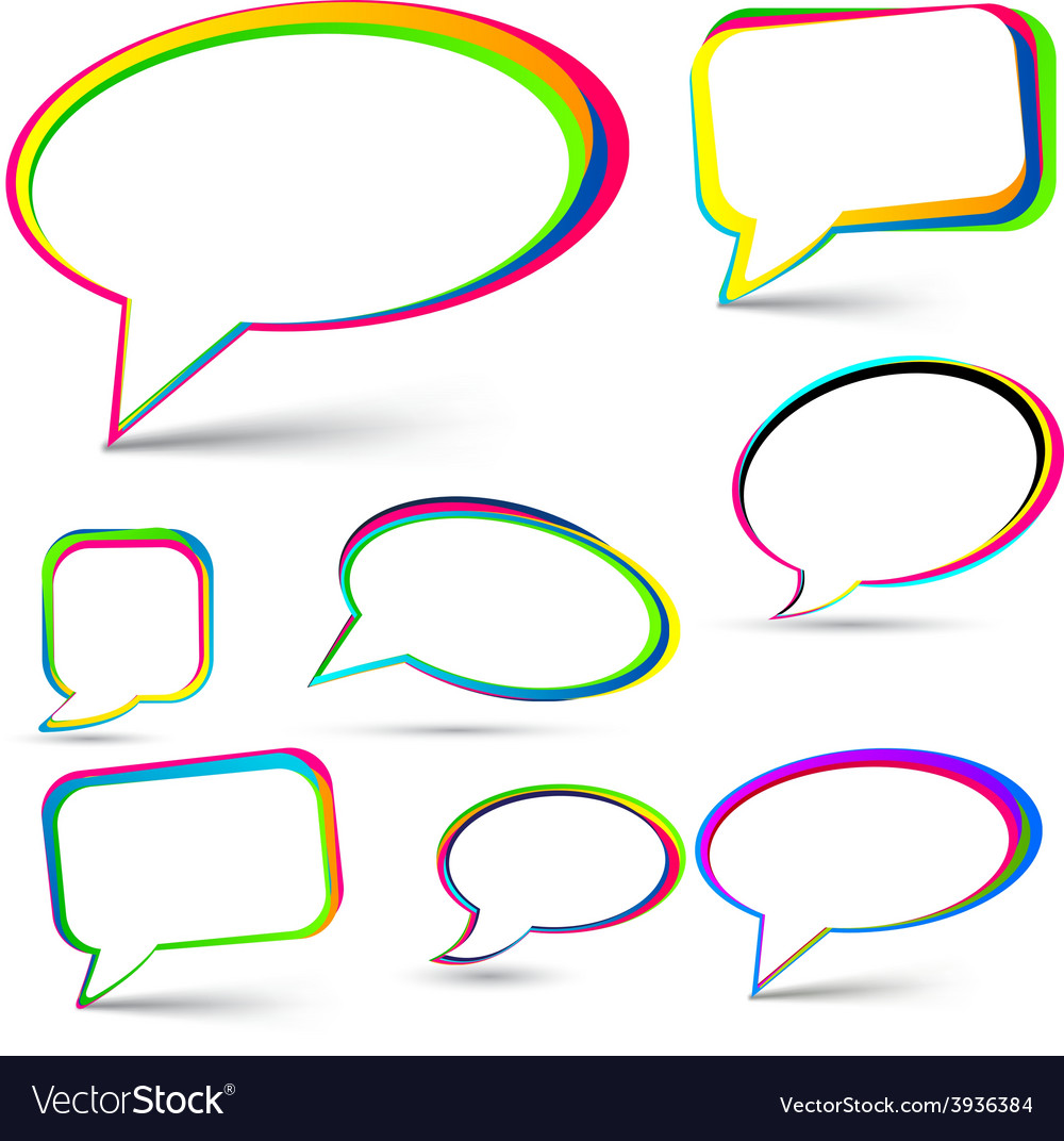 Speech signs set vector image