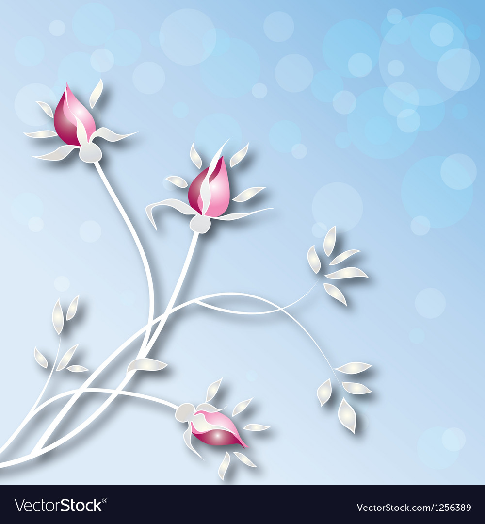 Background-with-roses vector image