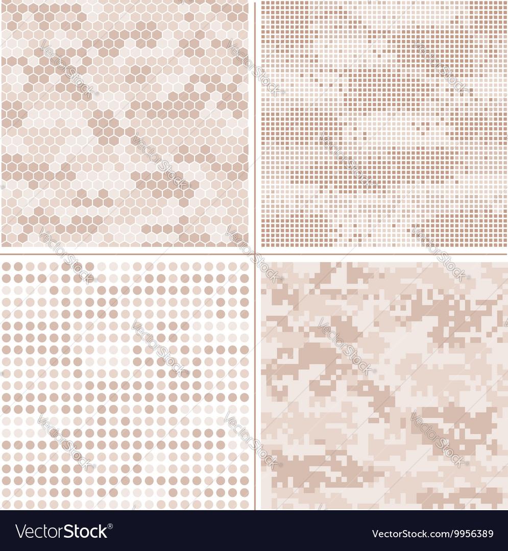Seamless digital Pixel Camouflage vector image
