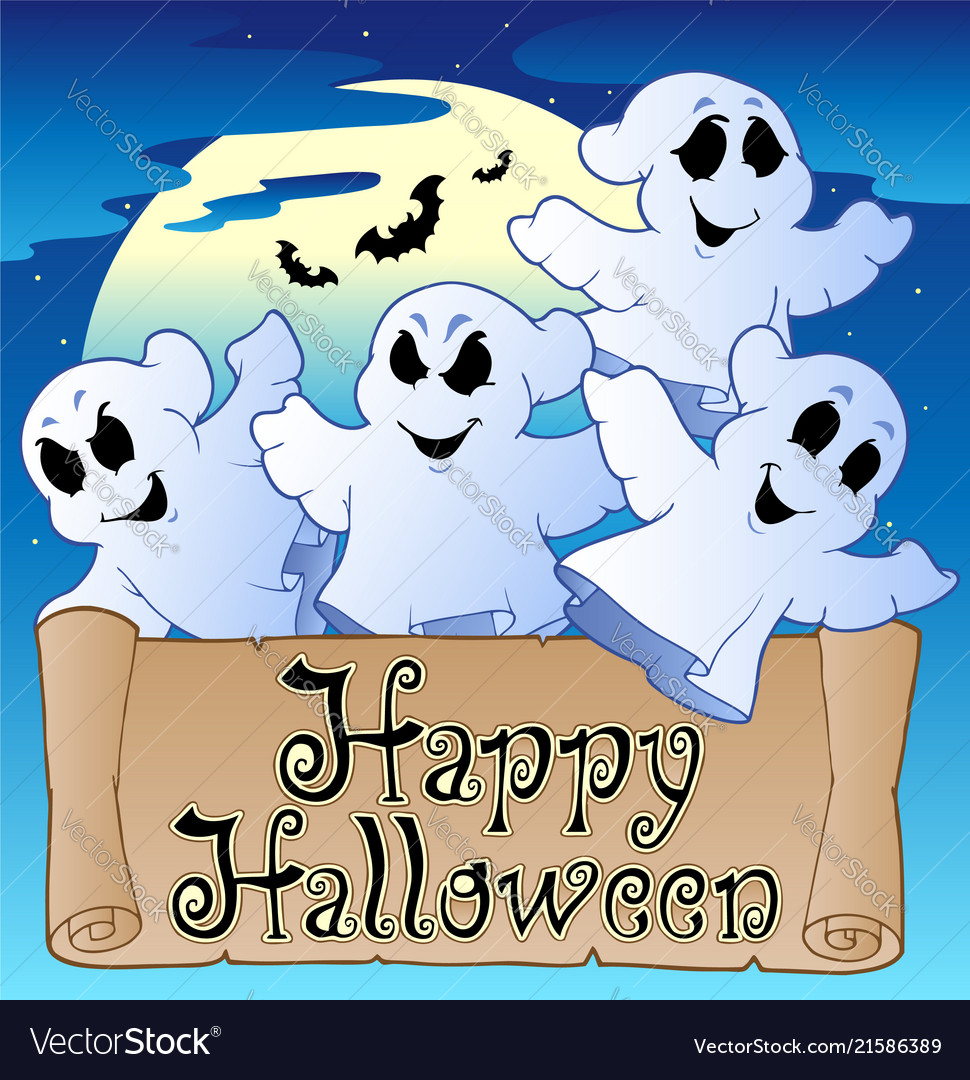 Theme With Happy Halloween Banner 2 Vector Image