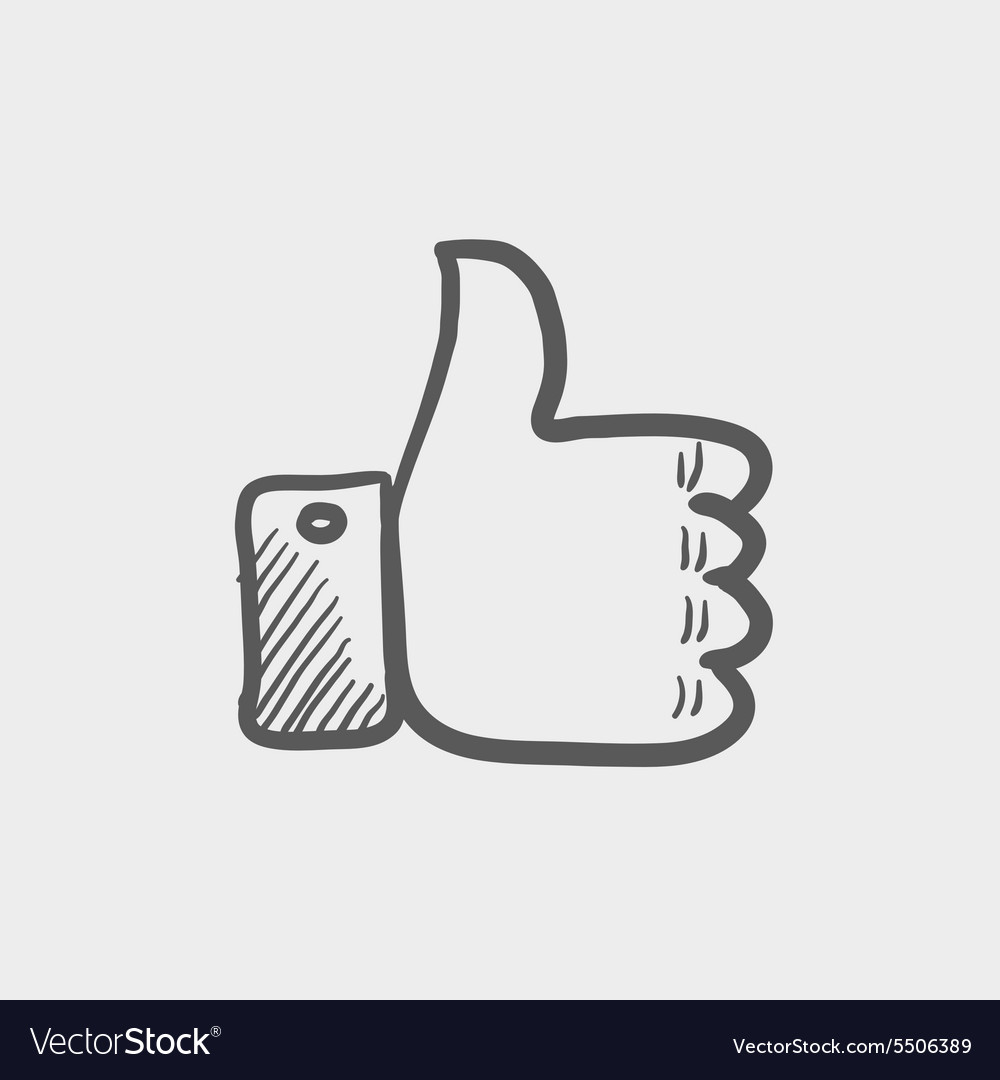 Thumbs up sketch icon